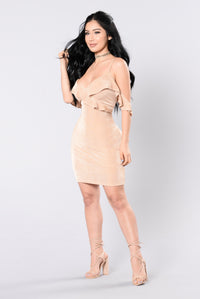 The Reason I Hold On Dress - Nude