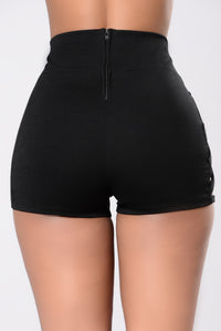 Take Your Broken Hearts Shorts - Black