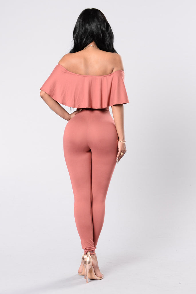 Doll Parts Jumpsuit - Marsala