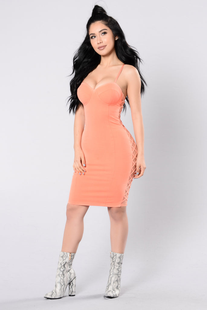 Last Night's Party Dress - Mango Peach