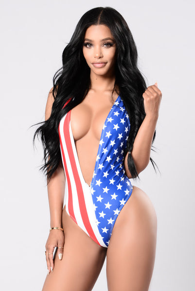 cd70f09ced Party In The U.S.A Swimsuit - Flag