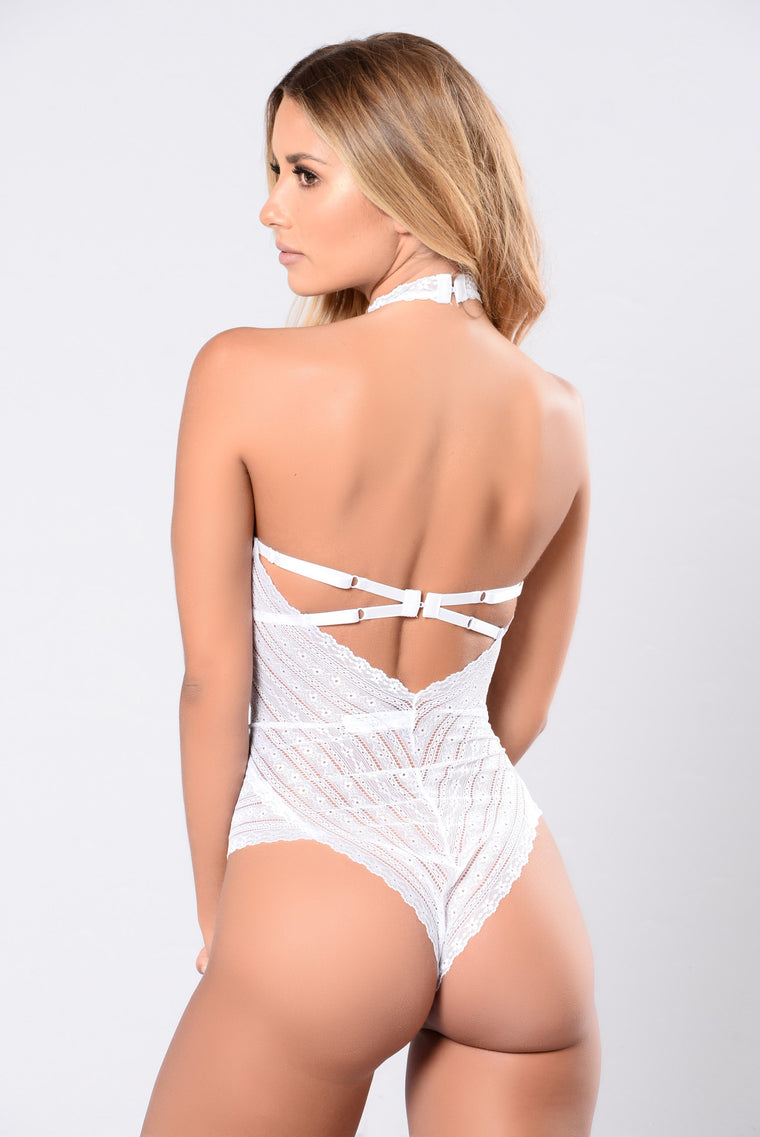 Sexy white teddy lingerie for women