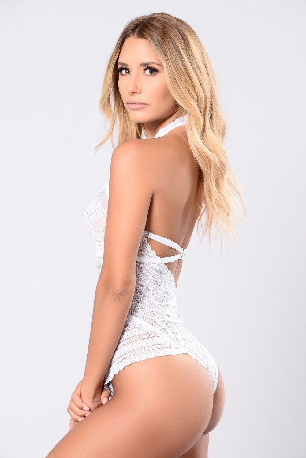White sexy jumpsuit lingerie teddie