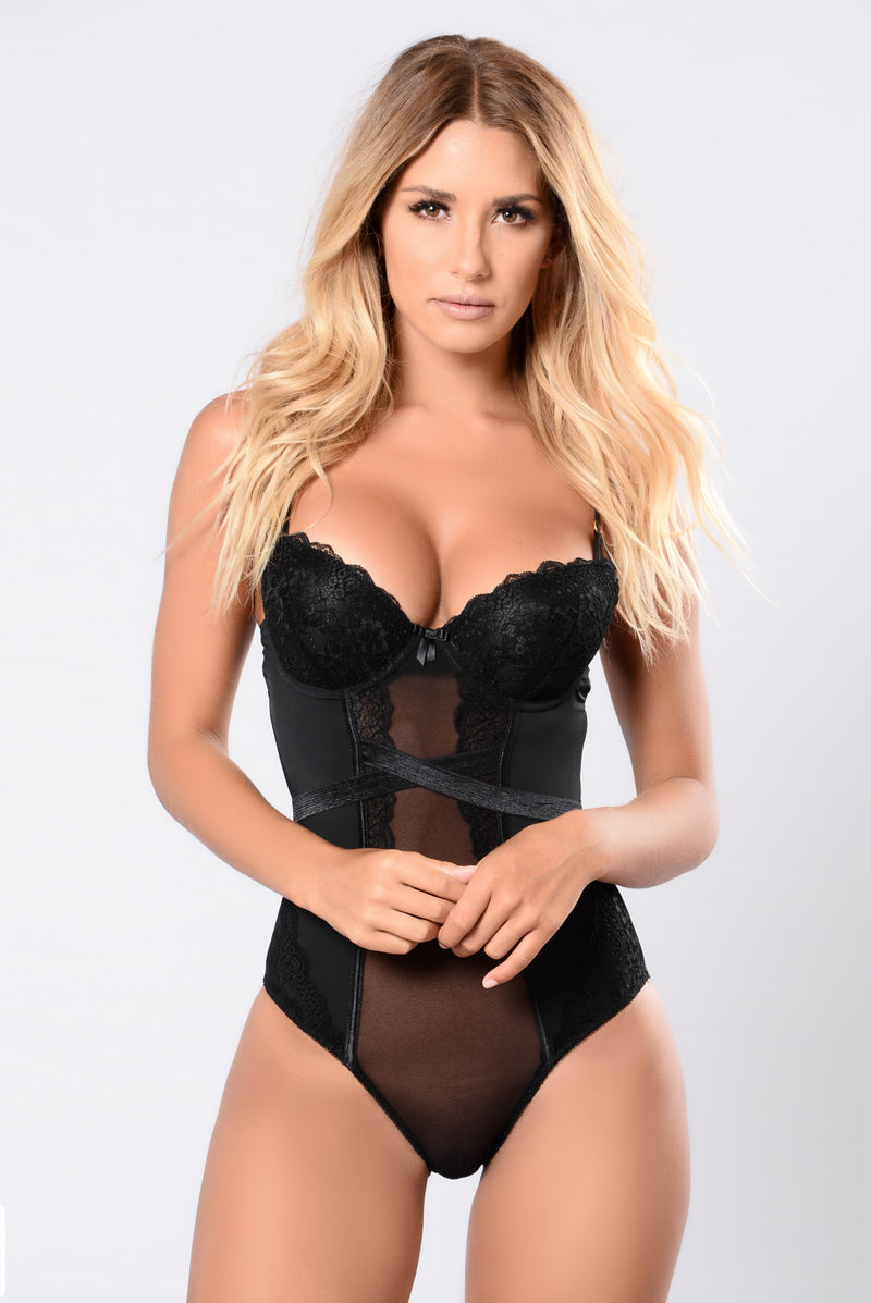 Middle Of The Night Teddy Bodysuit - Black