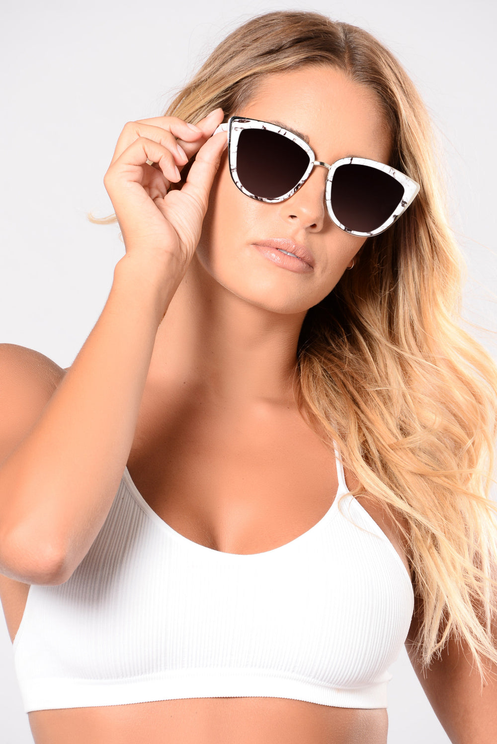 Stone Cold Sunglasses - White/Silver
