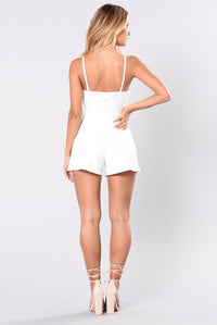 Your Favorite Flower Romper - Off White