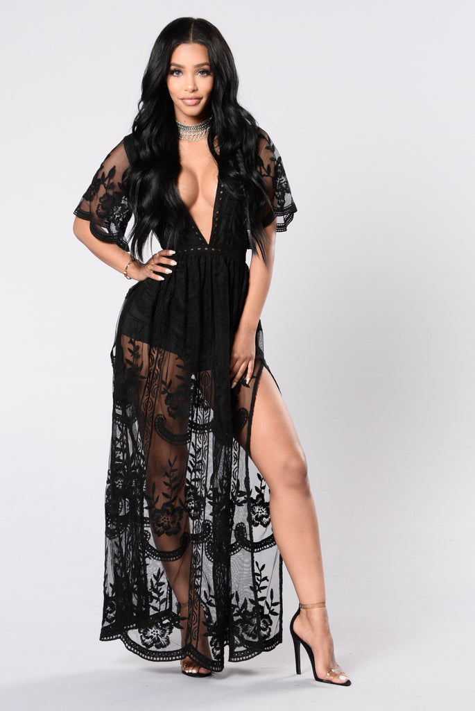 Set Our Love On Fire Dress - Black