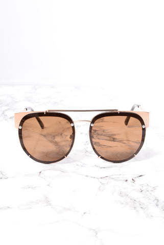 South Bay Sunglasses - Gold/Brown