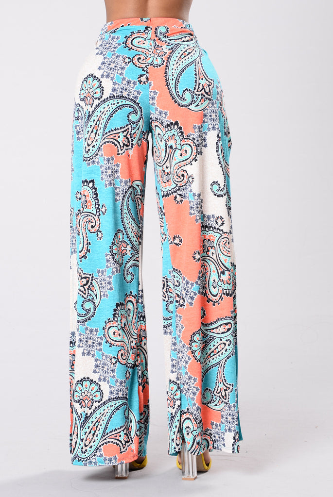 Carefree Paisley Pants - Multi