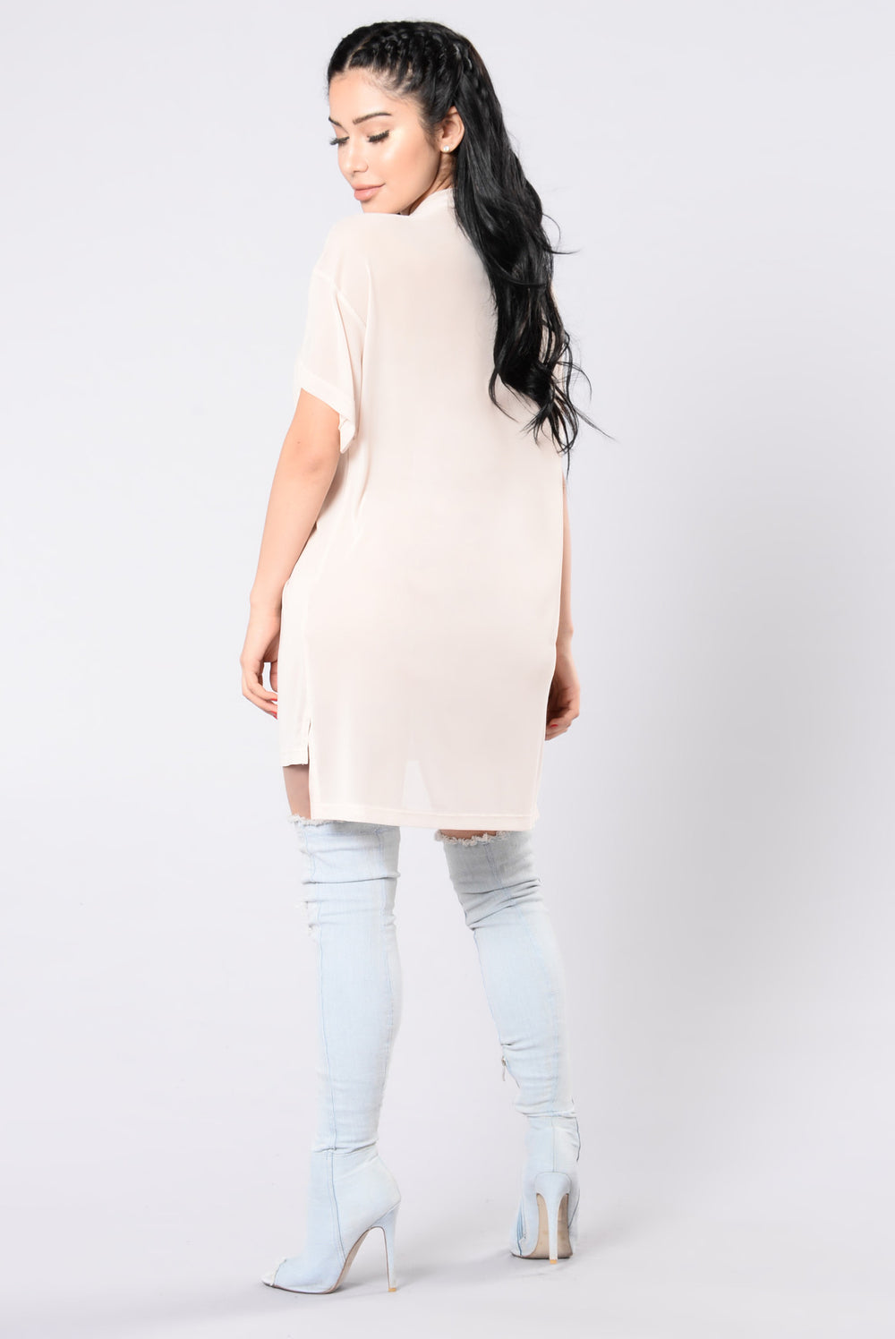 Give You My All Tunic - Nude/White