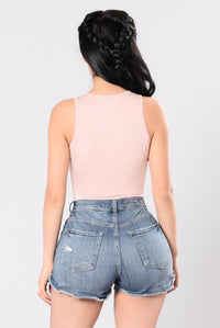 The Feeling That You Crave Bodysuit - Blush