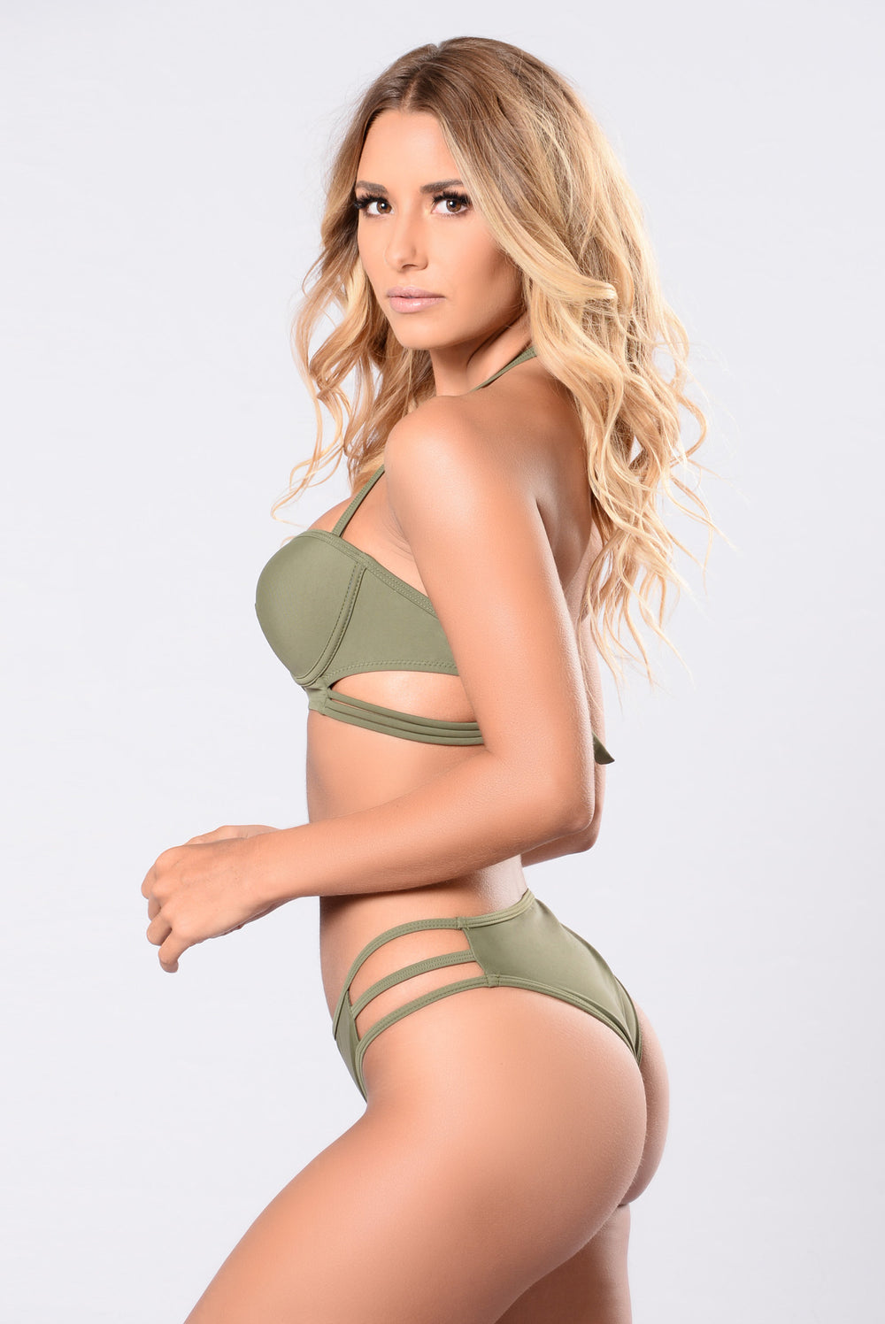Might Hurt Yourself Swimsuit - Olive
