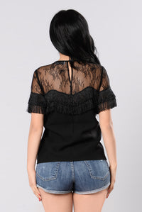 Hold Me With Your Heart Top - Black
