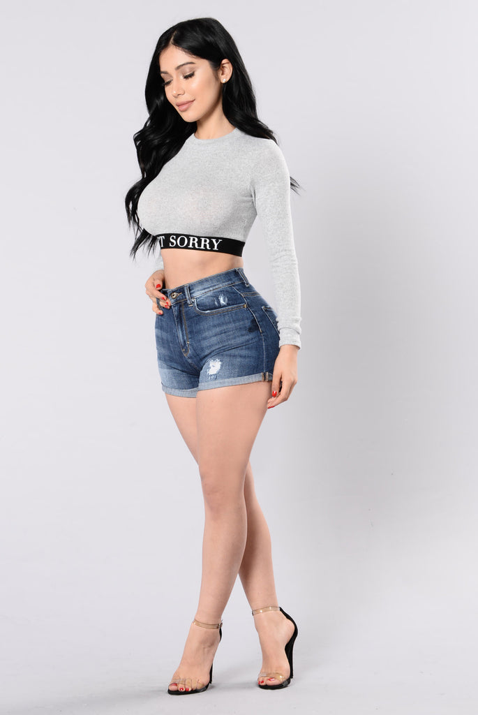 Sorry 'Bout It Top - Heather Grey