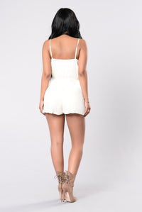 Wind Will Blow Romper - Ivory