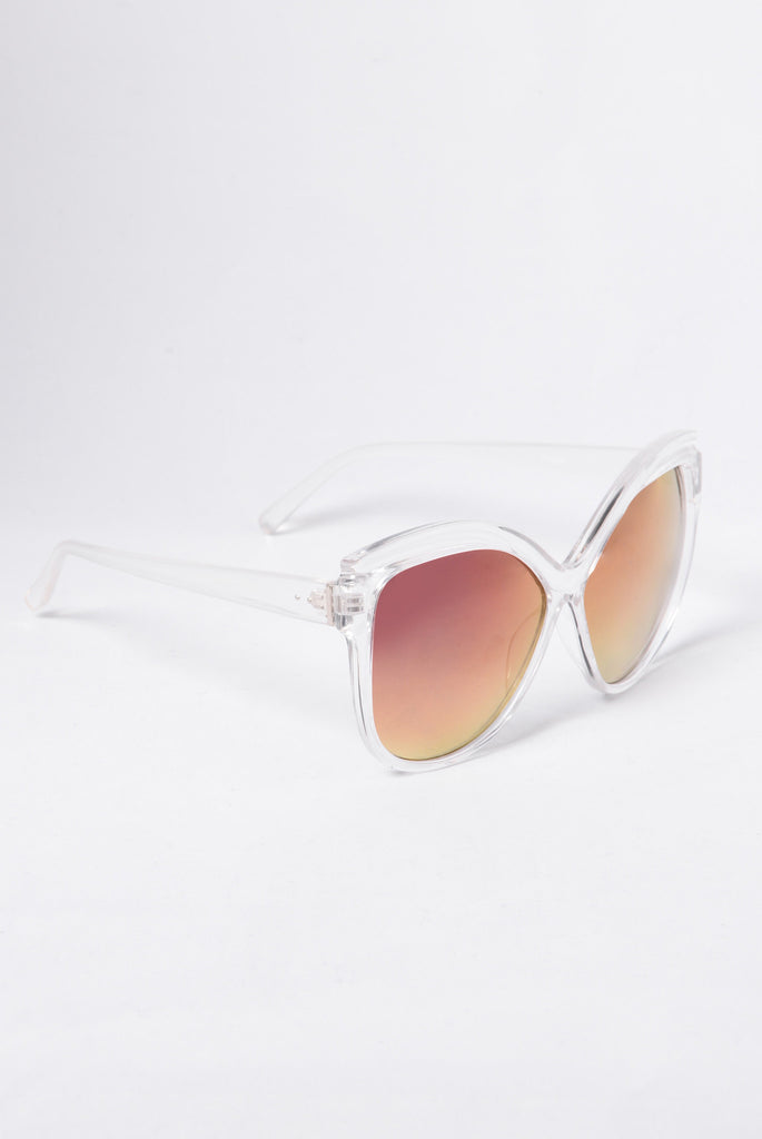 Bottoms Bay Sunglasses - Clear/Purple