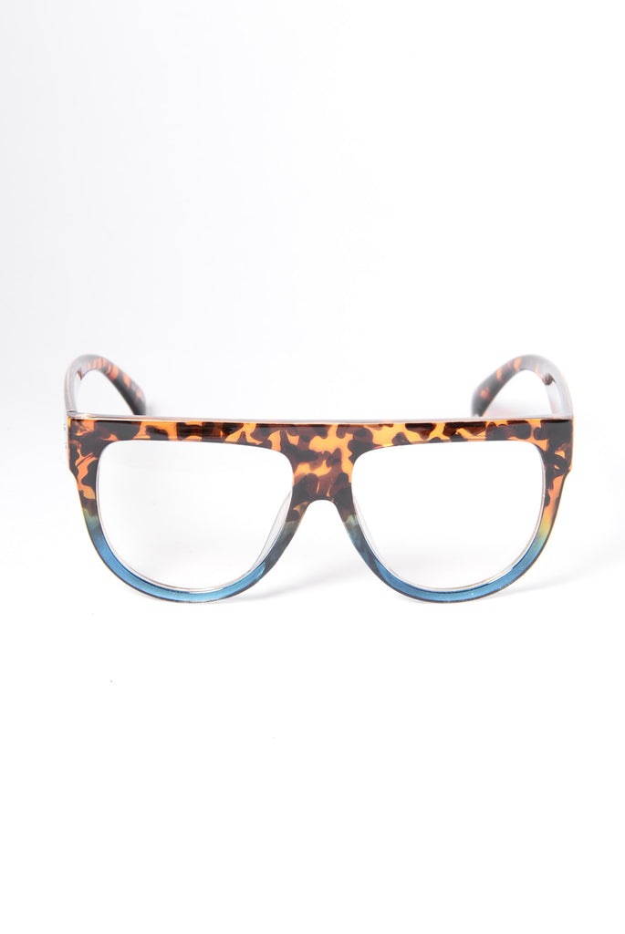 Read Up On Me Glasses - Tortoise/Blue