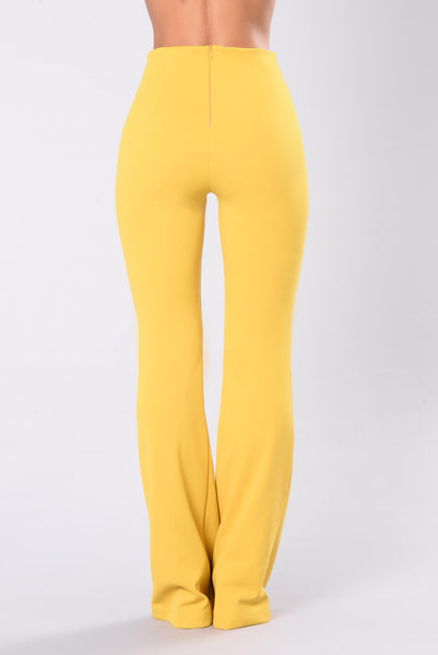 Fell So Deep Pants - Mustard