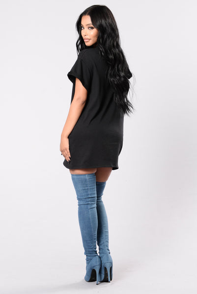 Grace Kelly Tunic - Black