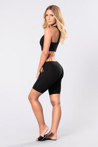 Have No Flaws Bottoms - Black/Orange