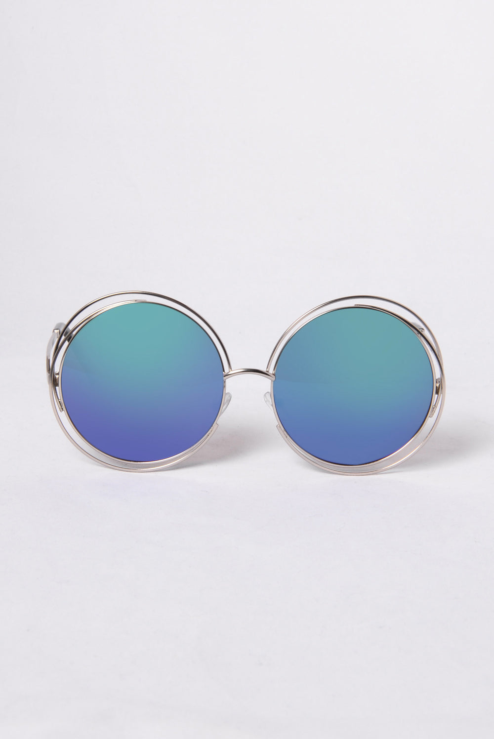 Lover's Beach Sunglasses - Silver/Blue