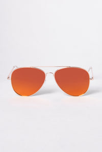 Hawaii Sunglasses - Gold/Red