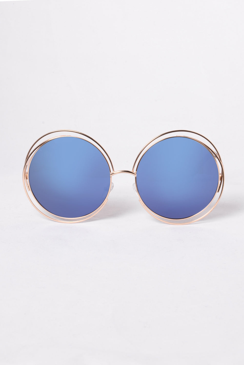 Lover's Beach Sunglasses - Gold/Blue