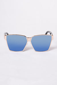 Huntington Beach Sunglasses - Gold/Blue