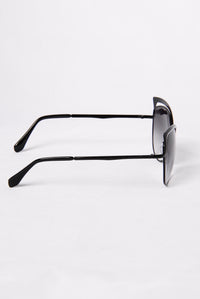 Start Some Drama Sunglasses - Black/Black