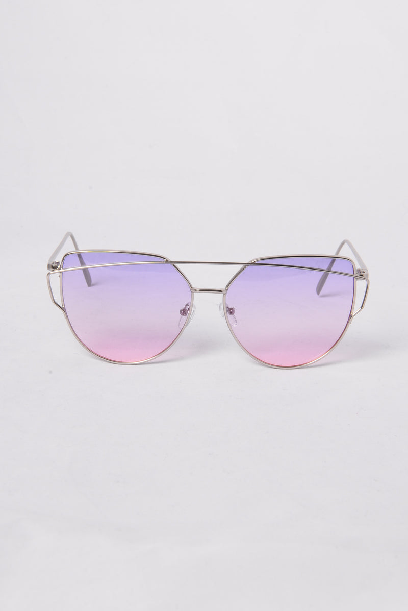 La Concha Beach Sunglasses - Silver/Purple