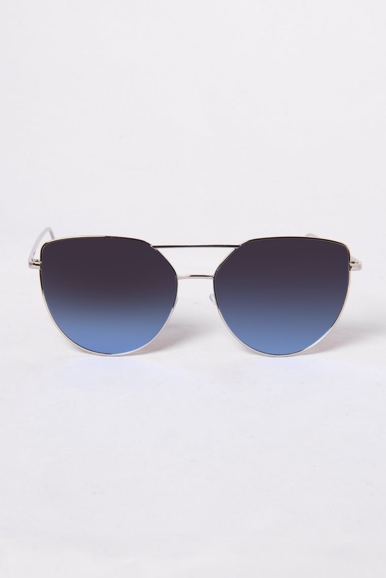 Venice Beach Sunglasses - Silver/Blue
