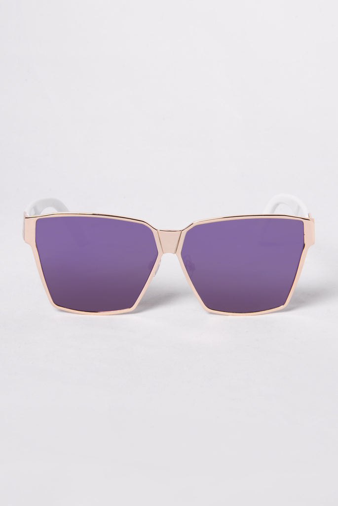 Huntington Beach Sunglasses - Gold/Purple