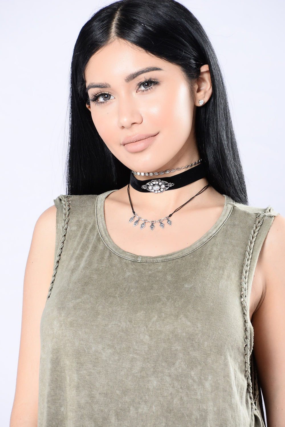 Whisper Choker - Black/Silver