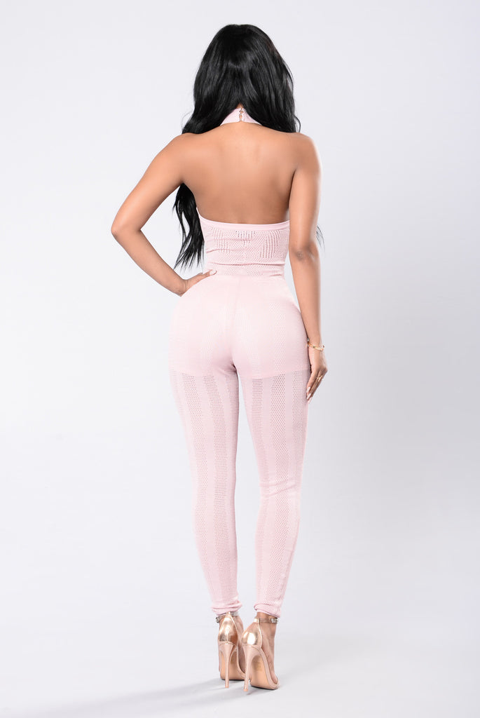 One Way Or Another Jumpsuit - Dusty Wineberry
