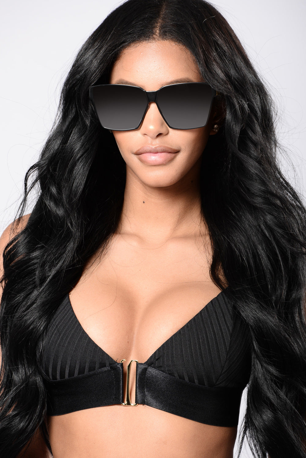 Huntington Beach Sunglasses - Black/Black