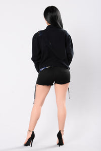 Oversized Jane Jacket - Black