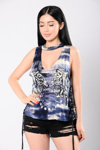 Out For Revenge Top - Navy