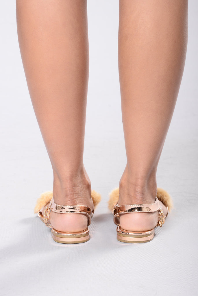 Hilton Sandal - Rose Gold