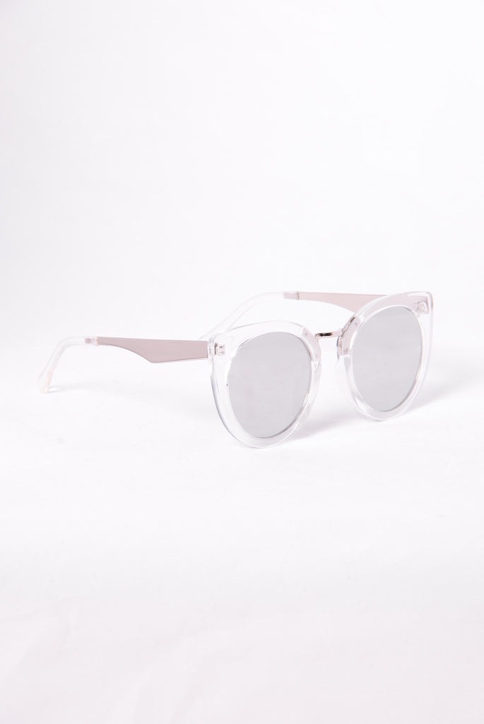 Look At That Sunglasses - Clear/Silver