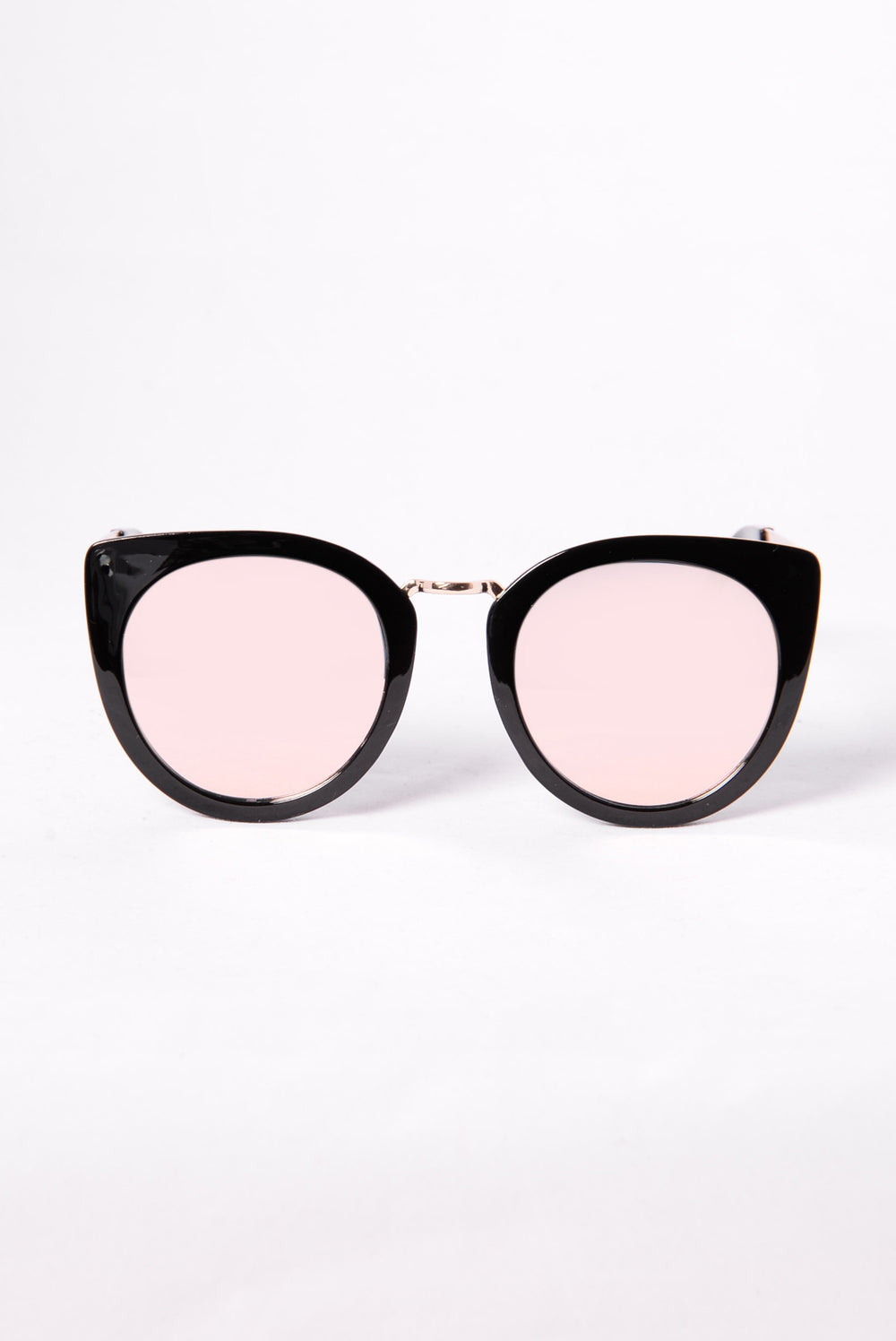 Look At That Sunglasses - Black/Rose