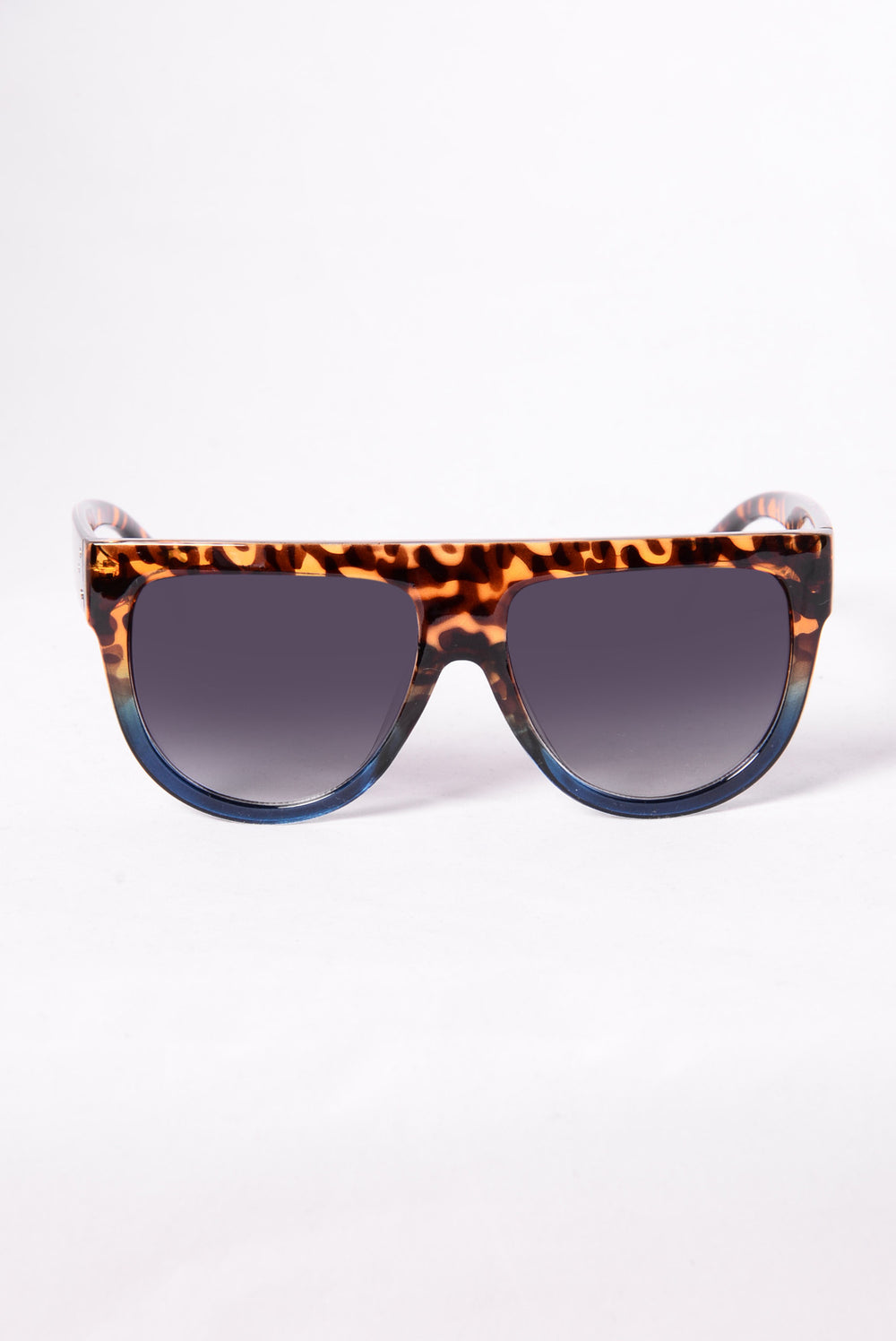 Stop And Stare Sunglasses - Tortoise/Blue