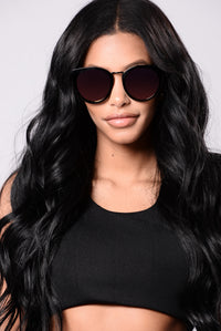 Look At That Sunglasses - Black/Red
