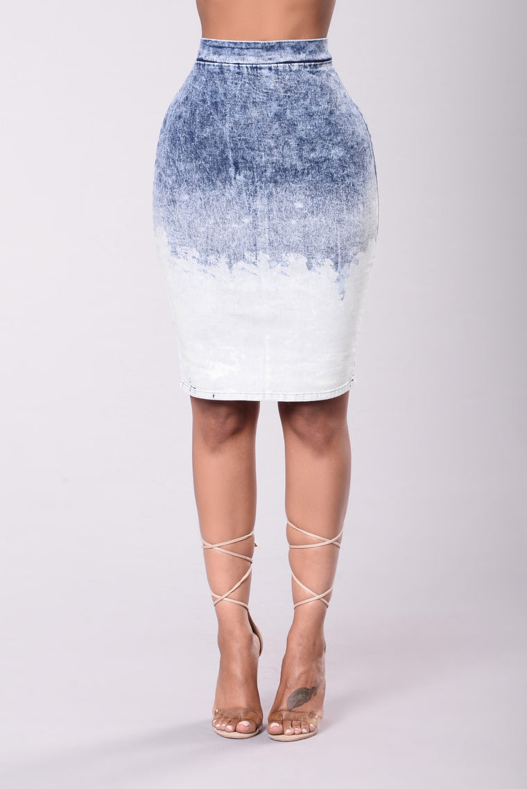 Nevermind Skirt - Medium Wash