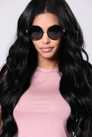 Laguna Beach Sunglasses - Black/Black