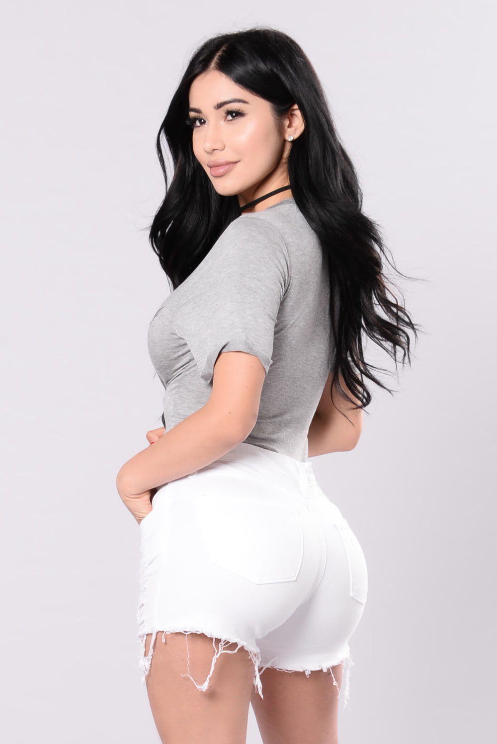 Let You Get Away Bodysuit - Heather Grey