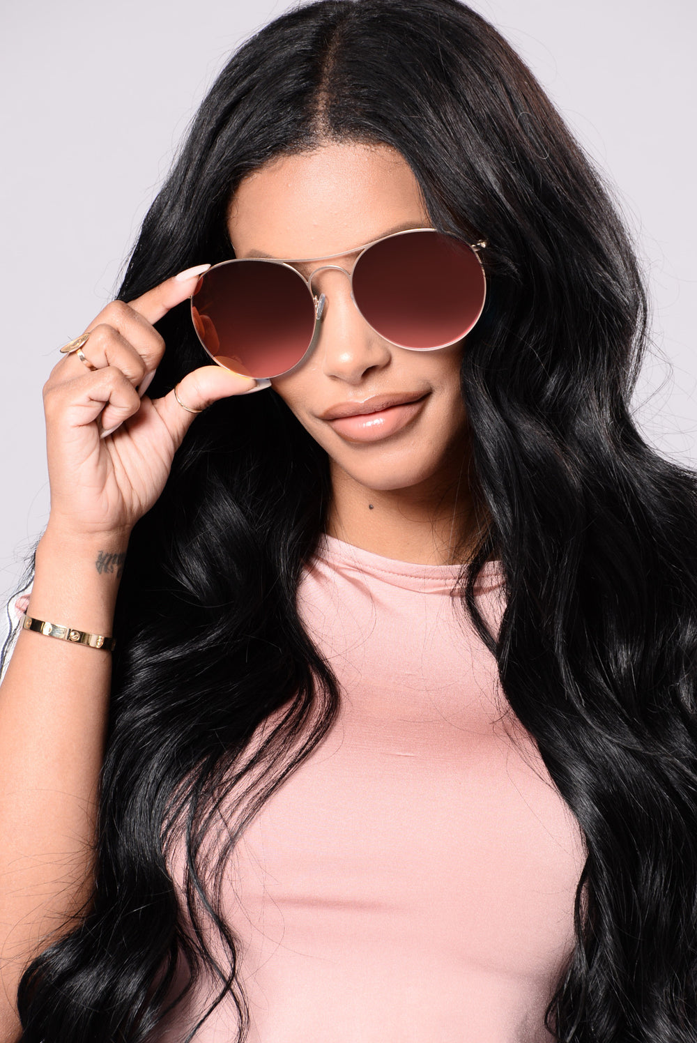 Redondo Beach Sunglasses - Gold/Magenta