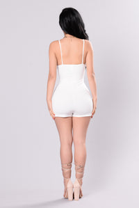 Wanna Feel Romper - Ivory