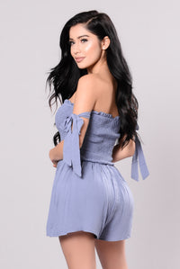Blinded By The Light Romper - Slate