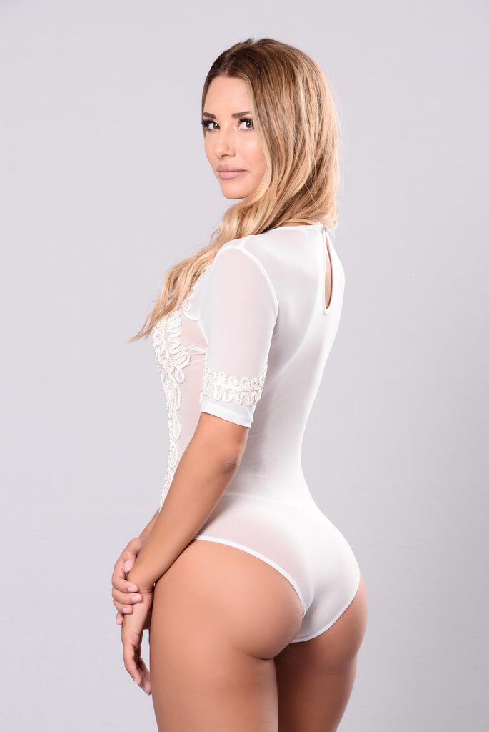 Elevate My Feeling Bodysuit - White