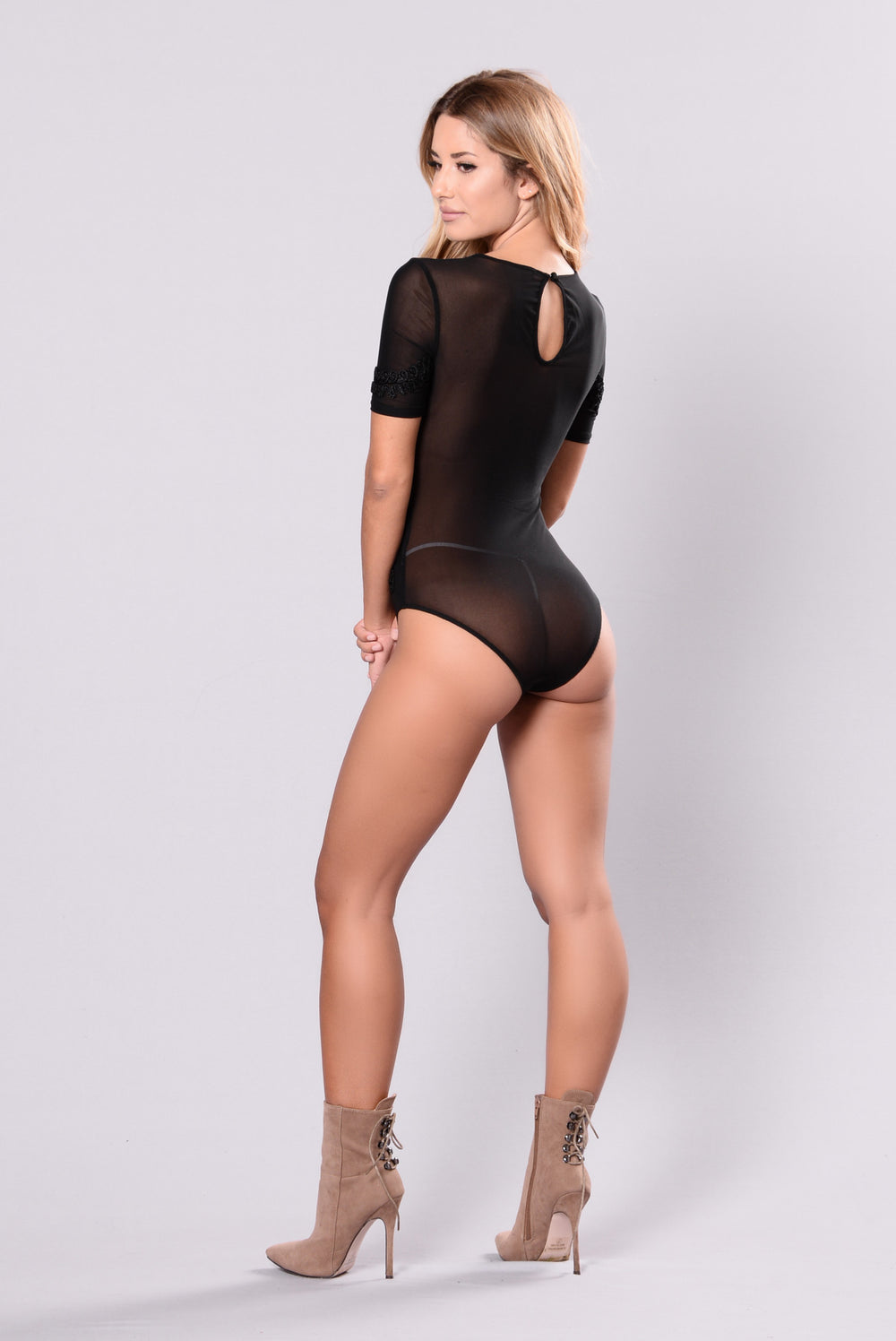 Elevate My Feeling Bodysuit - Black